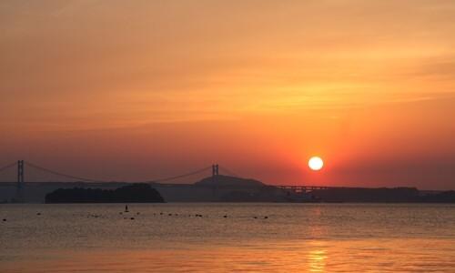 2014.5.7 瀬戸大橋と夕陽 (8).JPG