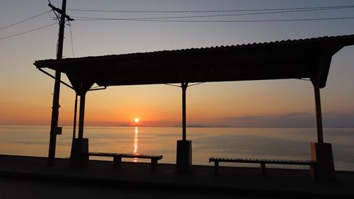 2019.6.11 下灘の夕陽 10.JPG