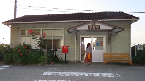 2019.6.11 下灘の夕陽 2.JPG