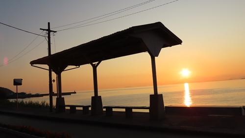 2019.6.11 下灘の夕陽 7.JPG