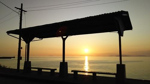 2019.6.11 下灘の夕陽 8.JPG